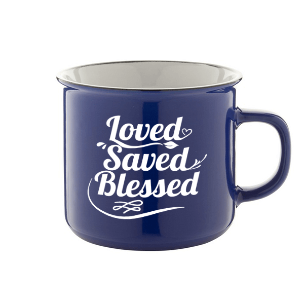 Bögre – Loved Saved Blessed (kék)