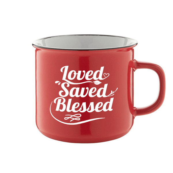 Bögre – Loved Saved Blessed (piros)