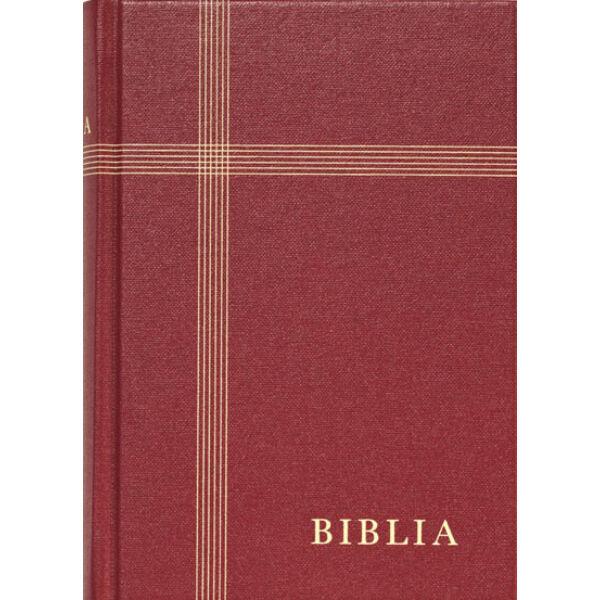 Biblia - revideált új fordítás, bordó, vászonkötés, közepes