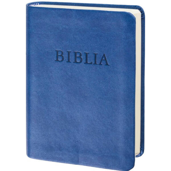 Biblia - revideált új fordítás, kék, puhatáblás, zsebméretű