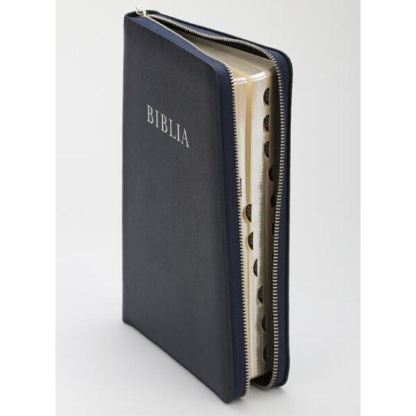 Biblia – revideált új fordítás, bőrkötés, cipzár, nagy