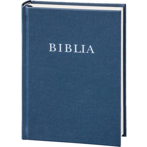 Biblia - revideált új fordítás, sötétkék, vászonkötés, közepes