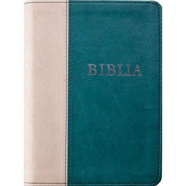 Biblia - revideált új fordítás, sötétzöld-szürke, puhatáblás, közepes