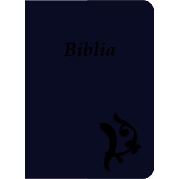 Biblia - új Károli, sötétkék, varrott, nagy