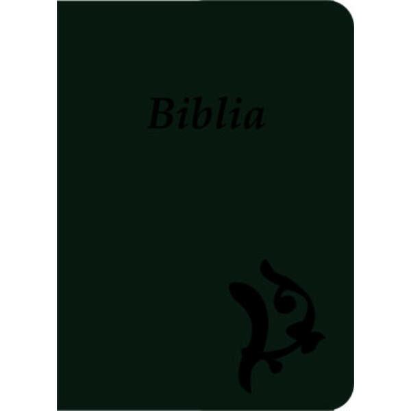 Biblia - új Károli, sötétzöld, varrott, nagy