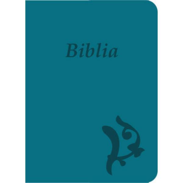 Biblia - új Károli, türkiz, varrott, nagy