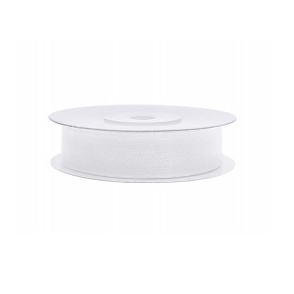 Organza szalag (12 mm x 25 m) – fehér