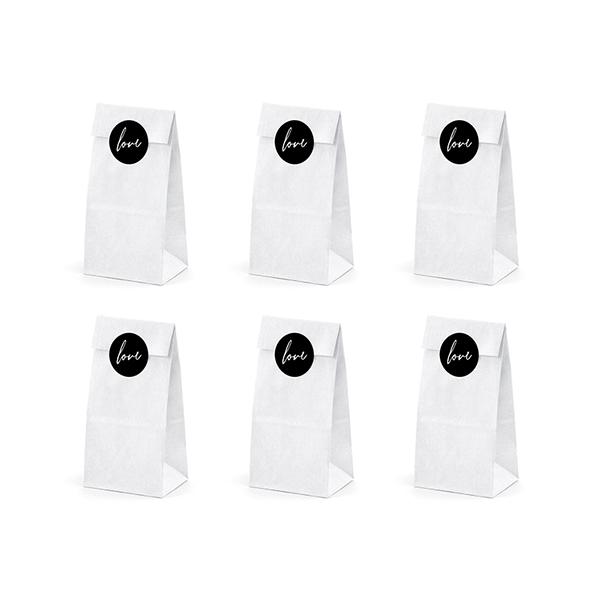 Papírzacskó (6 db) - fehér