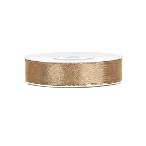Szatén szalag (12 mm x 25 m) – arany