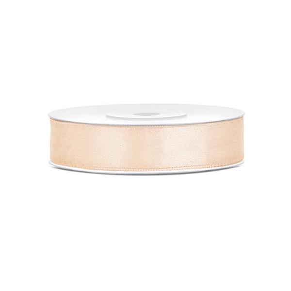 Szatén szalag (12 mm x 25 m) – krém
