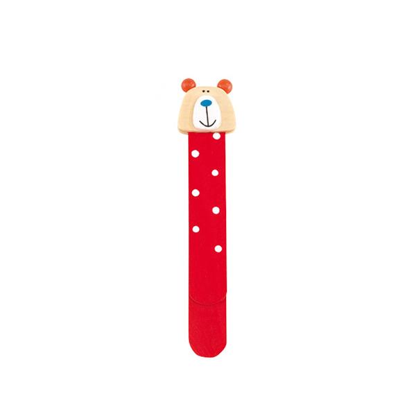 Állatos fa könyvjelző – piros