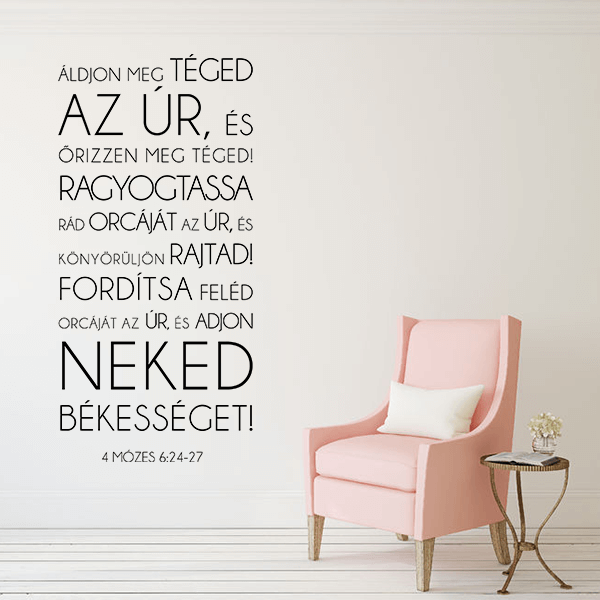 Falmatrica – Áldjon meg téged az Úr (57 x 119 cm)