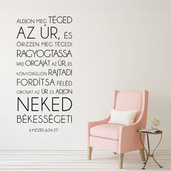 Falmatrica - Áldjon meg téged az Úr (57 x 119 cm)