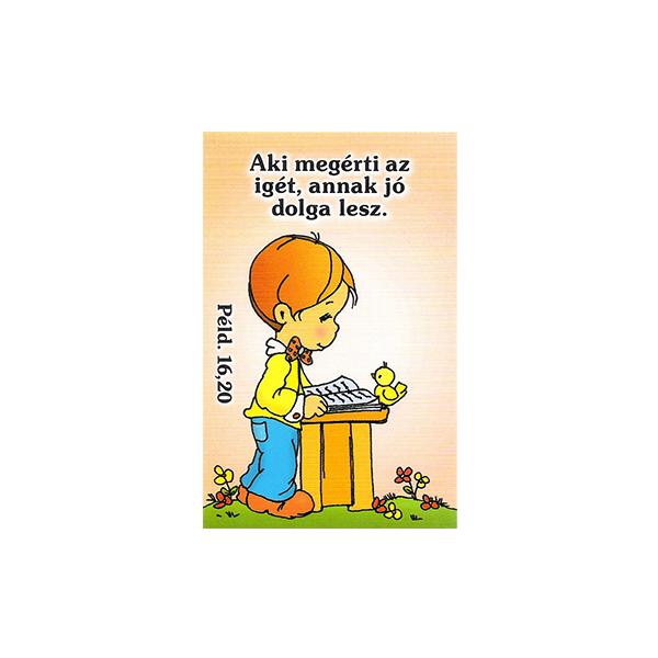 Igés kártya gyerekeknek - Aki megérti az igét