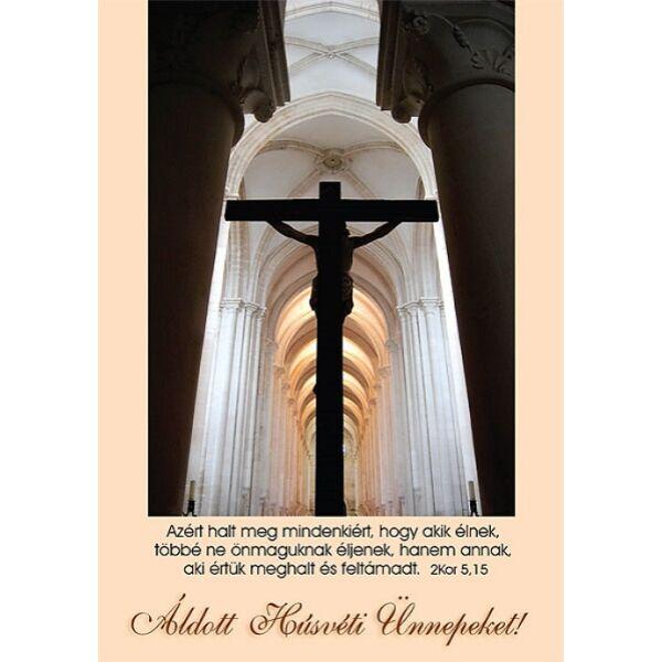 Húsvéti képeslap - Azért halt meg mindenkiért