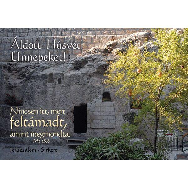 Húsvéti képeslap - Nincsen itt mert feltámadt