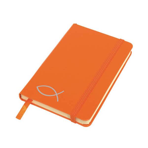 A6-os halas jegyzetfüzet - narancs