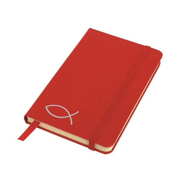 A6-os halas jegyzetfüzet - vörös