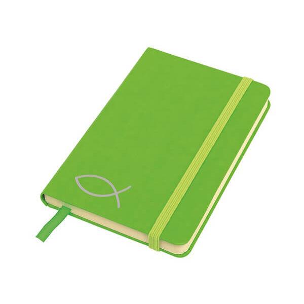 A6-os halas jegyzetfüzet - zöld