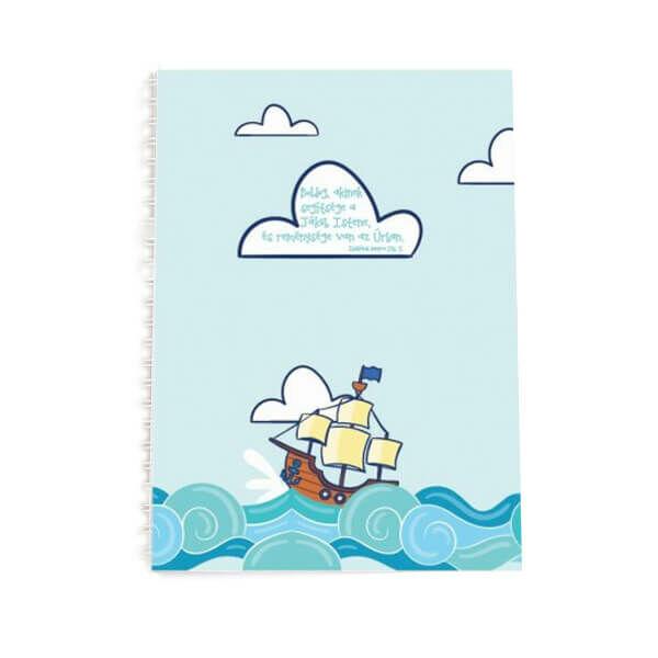 Spirál jegyzetfüzet A5 - Boldog, akinek segítsége