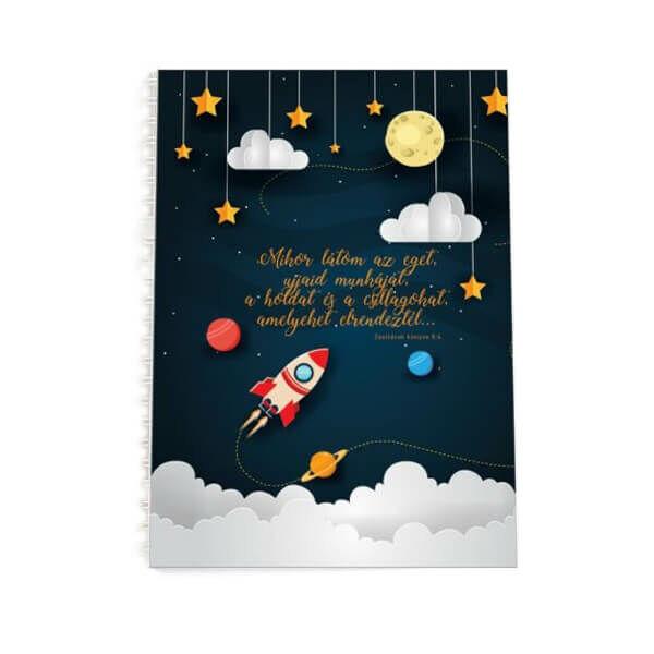 Spirál jegyzetfüzet A5 - Mikor látom az eget