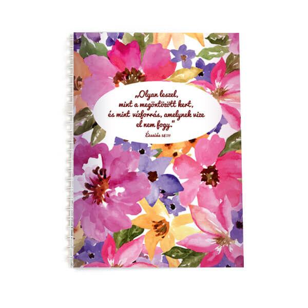 Spirál jegyzetfüzet A5 – Olyan leszel, mint a megöntözött kert