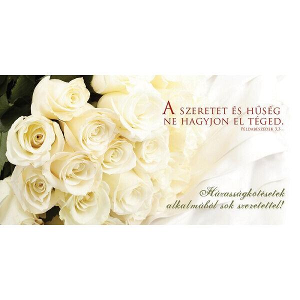 Esküvői borítékos képeslap - A szeretet és hűség ne hagyjon el