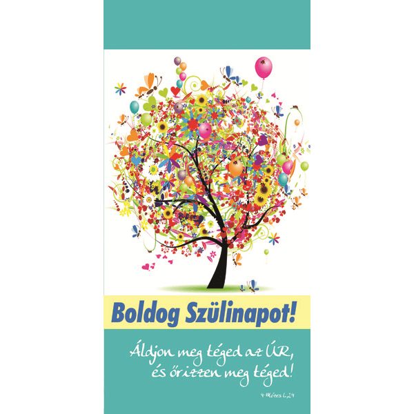 Igés borítékos képeslap - Áldjon meg téged az Úr (születésnap)