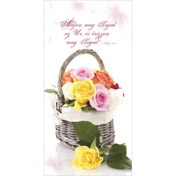 Igés borítékos képeslap - Áldjon meg téged az Úr (álló)