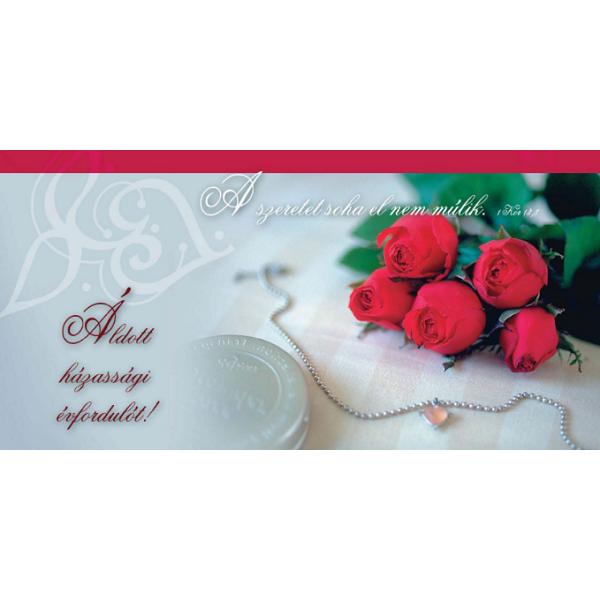 Igés borítékos képeslap – Áldott házassági évfordulót!