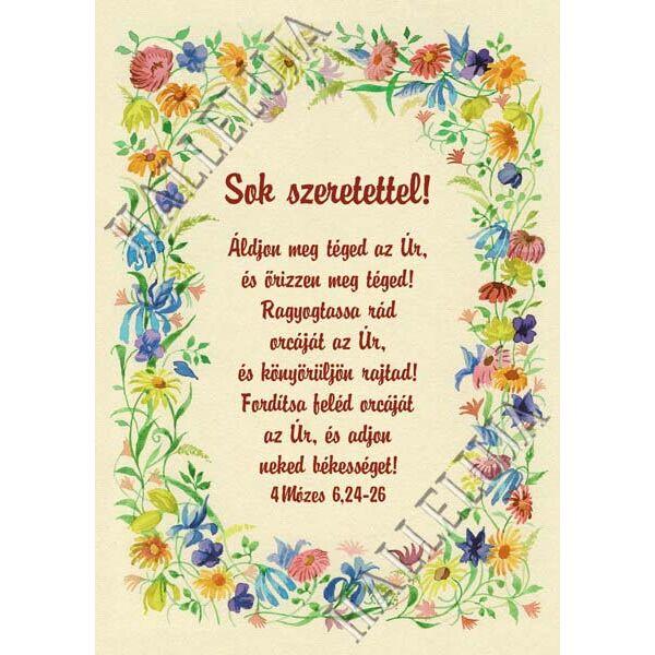 Igés képeslap - Áldjon meg téged az Úr (álló)