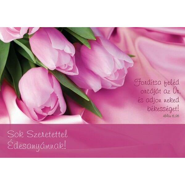 Igés képeslap – Fordítsa feléd orcáját az Úr (anyák napja)