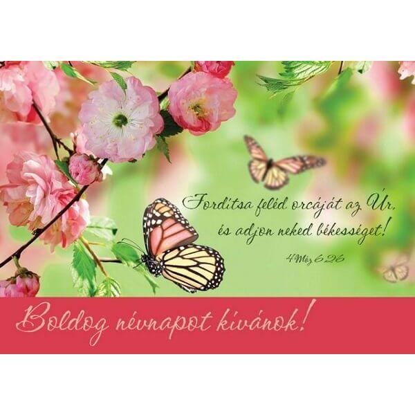 Igés képeslap – Fordítsa feléd orcáját az Úr (névnap)