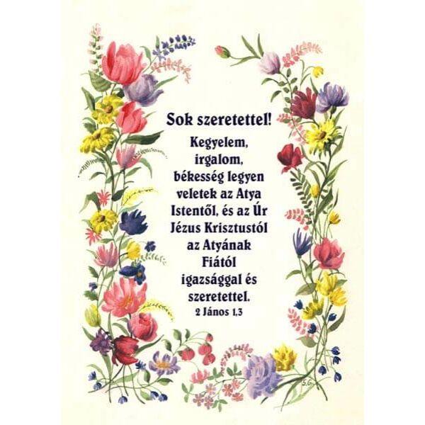 Igés képeslap - Kegyelem, irgalom, békesség