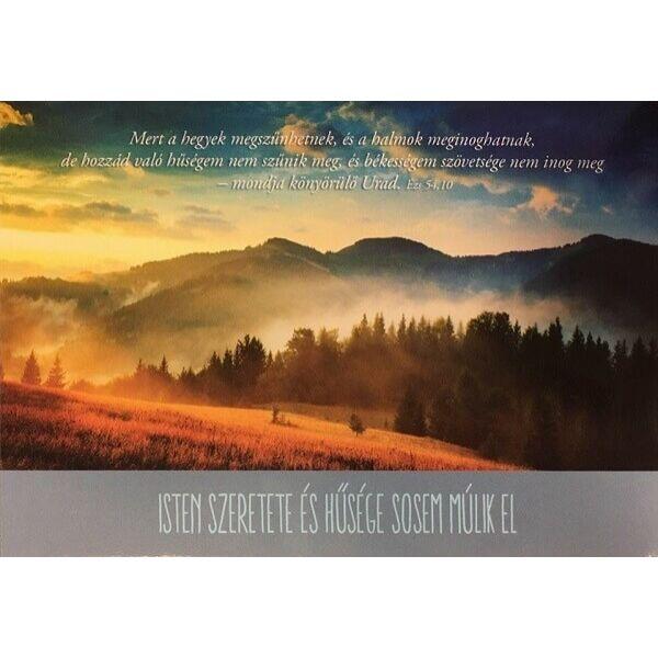 Igés képeslap – Mert a hegyek megszűnhetnek