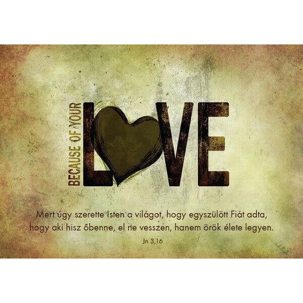 Igés képeslap – Mert úgy szerette Isten (love)