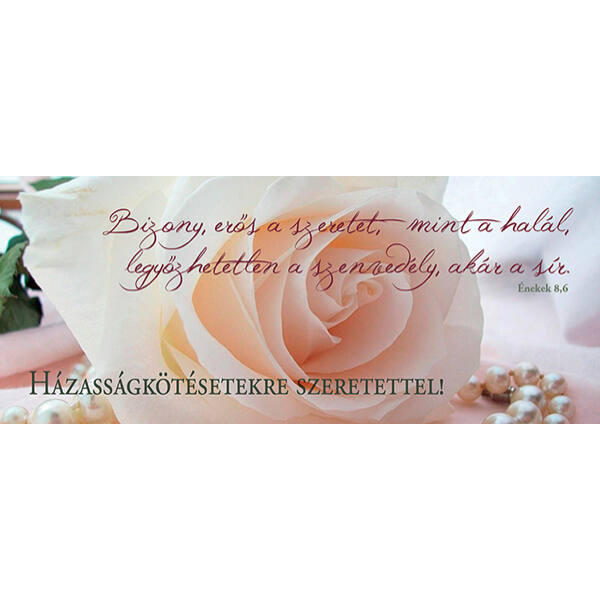 Esküvői könyvjelző - Bizony erős a szeretet