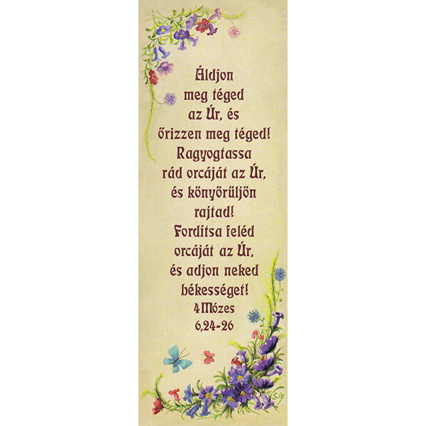 Igés könyvjelző – Áldjon meg téged az Úr (álló)