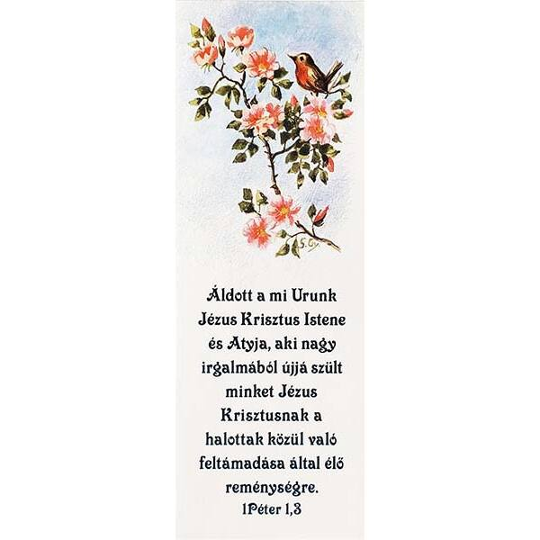Igés könyvjelző – Áldott a mi Urunk