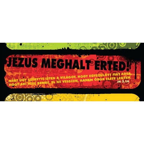 Igés könyvjelző - Jézus meghalt érted