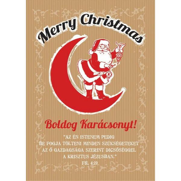 Karácsonyi képeslap – Isten be fogja tölteni szükségeteket