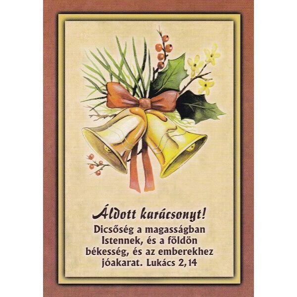 Karácsonyi képeslap - Dicsőség a magasságban Istennek