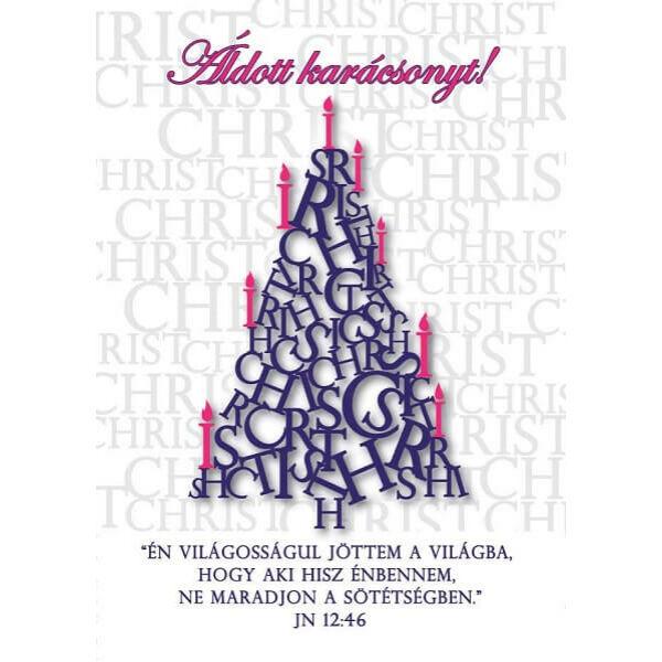 Karácsonyi képeslap - Én világosságul jöttem a világba
