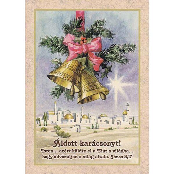 Karácsonyi képeslap – Isten azért küldte el a Fiút