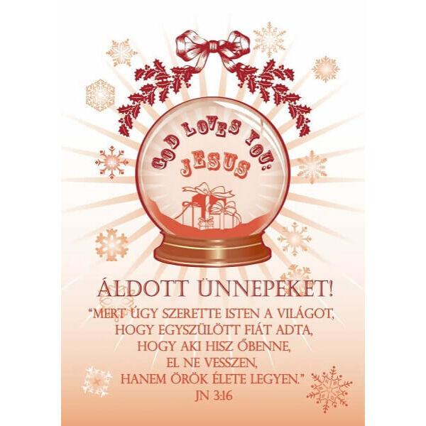 Karácsonyi képeslap - Mert úgy szerette Isten a világot
