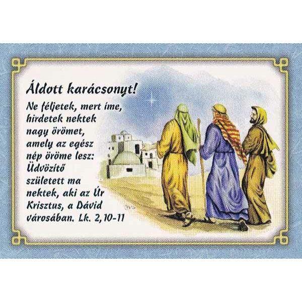 Karácsonyi képeslap - Ne féljetek