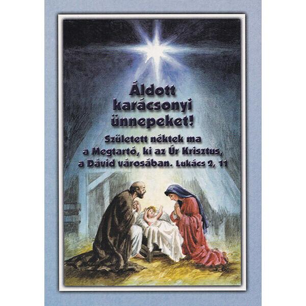 Karácsonyi képeslap – Született néktek ma a Megtartó