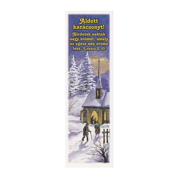 Karácsonyi könyvjelző – Hirdetek nektek nagy örömet (kék)