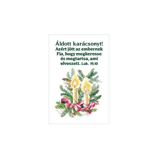 Karácsonyi igés kártya - Azért jött az embernek Fia