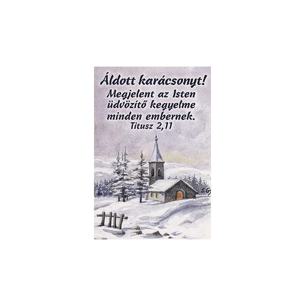 Karácsonyi minikártya – Megjelent az Isten üdvözítő kegyelme